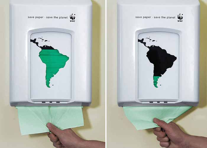 Заощаджуй папір.  Врятуй планету