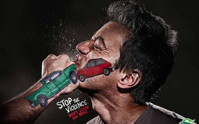 Останови насилие, не пей за рулём