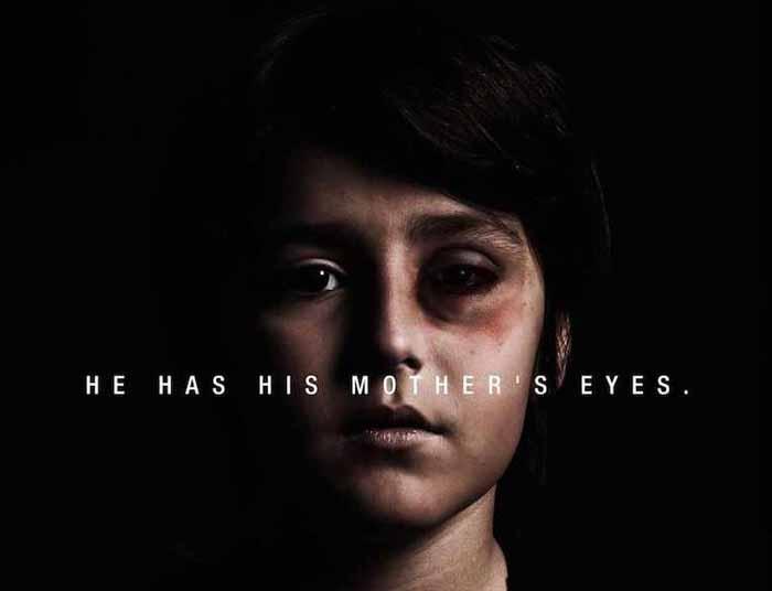 У нього мамині очі