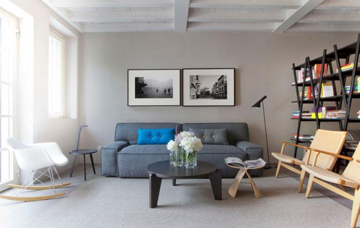 гостиная в скандинавском стиле от Studio Davide Cerini