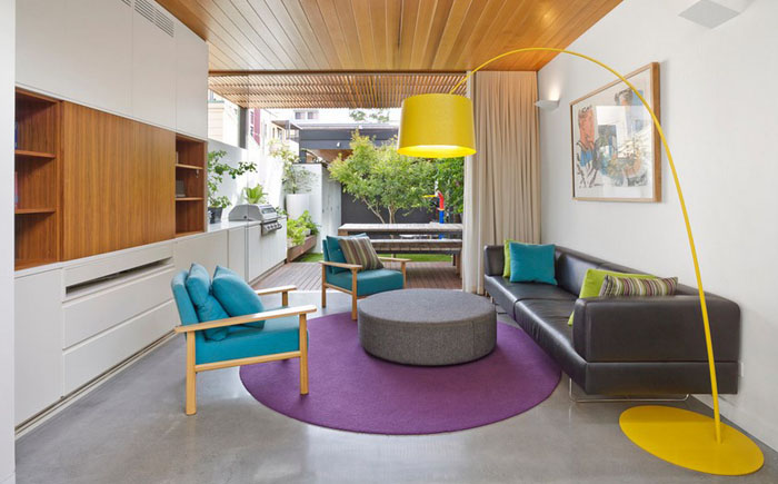 Гостиная в современном стиле от elaine richardson architect