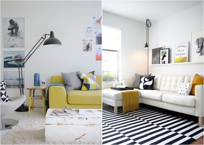 Разнообразная цветовая палитра для диванов