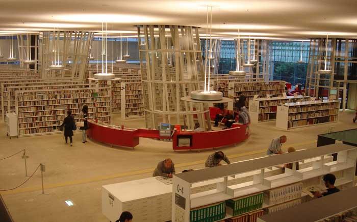 Библиотека «Сендай Медиатек», Япония