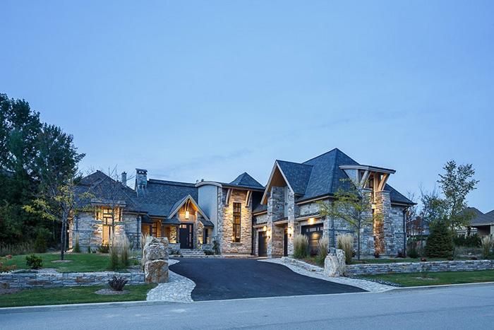20 самых привлекательных фасадов, выполненных из камня