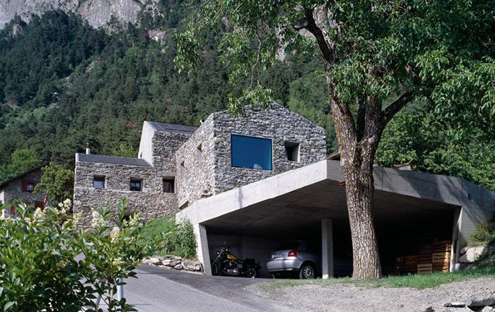 Подлинная горная архитектура в Швейцарии