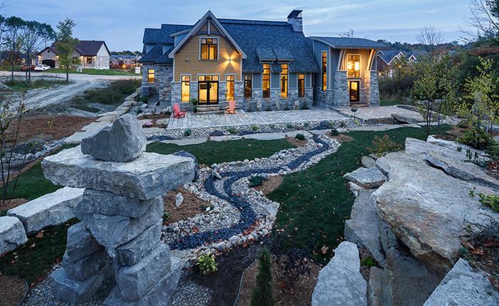 Горный деревенский пейзаж, Канада