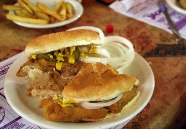 Сэндвич с жареными мозгами