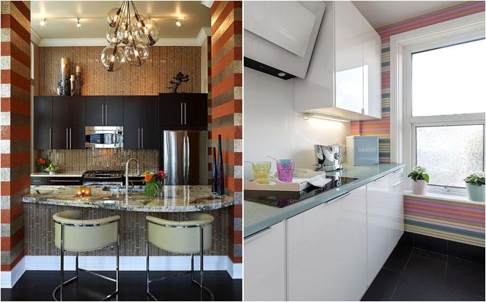 Полосатый рейс: 20 стильных и модных способов украсить кухню