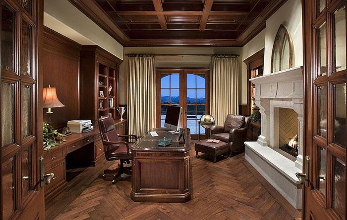 Интерьер домашнего офиса от PHX Architecture