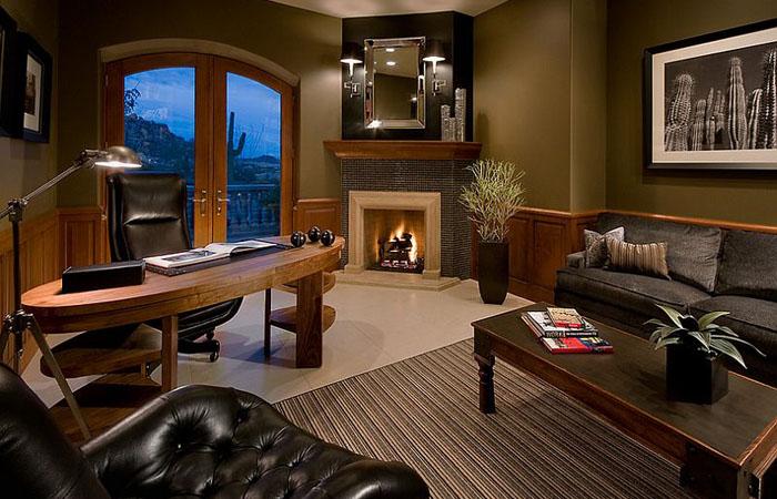 Интерьер домашнего офиса от Ownby Design