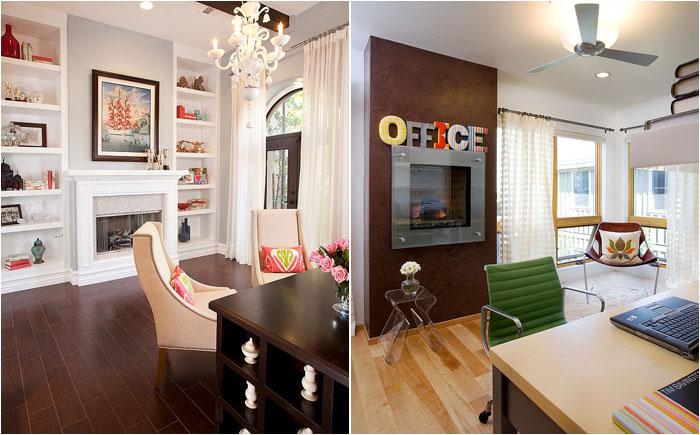 Оригинальные домашние офисы