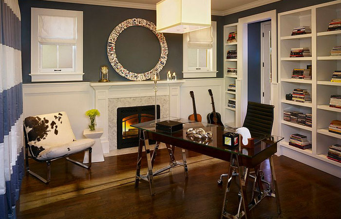 Интерьер домашнего офиса от Andrea Schumacher Interiors