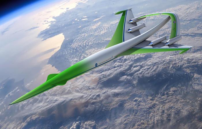 Самолет со сверхзвуковой скоростью