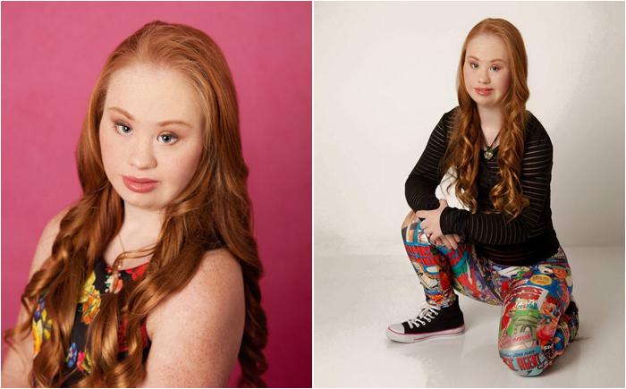 Маделин Стюарт, модель с синдромом Дауна