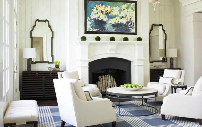 Интерьер гостиной от The Design Atelier