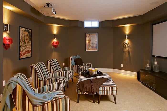 Гостиная-домашний кинотеатр от Gordana Car Interior Design Studio