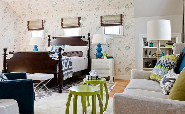 Интерьер спальни от  Rachel Reider Interiors