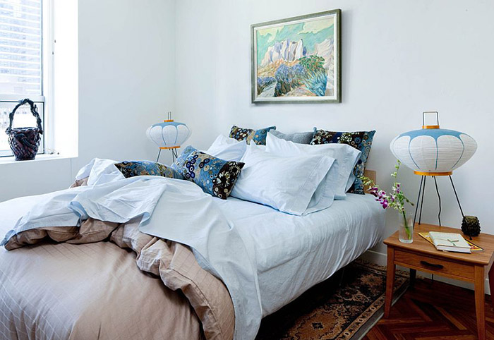Интерьер спальни от Kristen Rivoli Interior Design