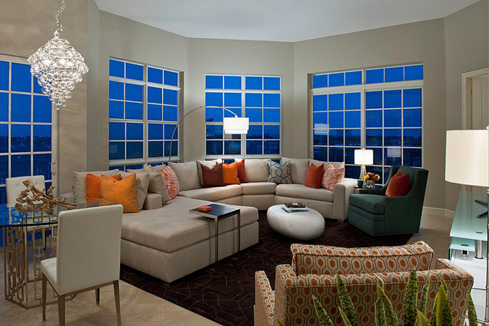 Интерьер гостиной от Garrison Hullinger Interiors