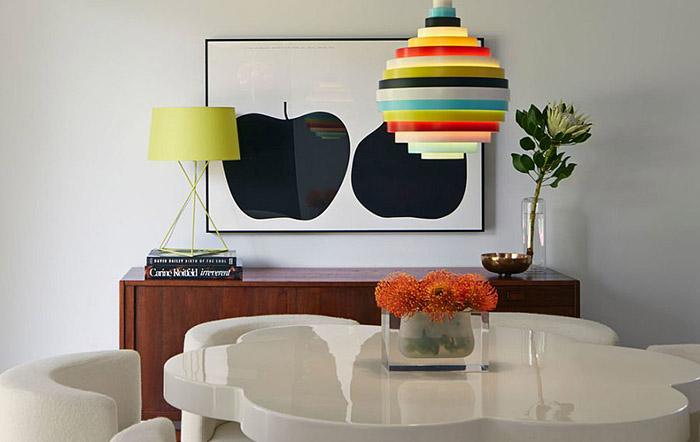 Интерьер столовой от  Alison Damonte Design