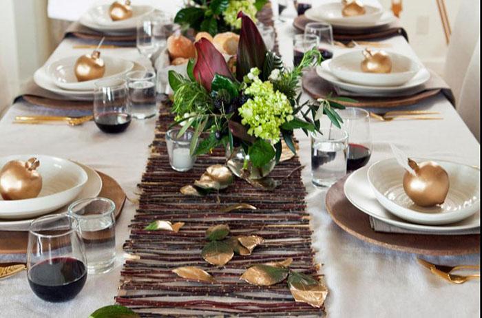 Осенний декор на столе