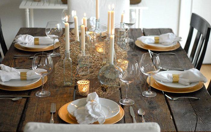 Оригинальный декор стола