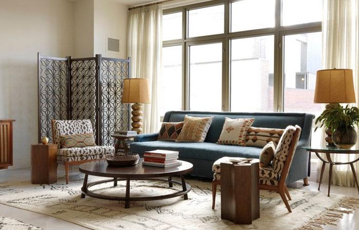 Интерьер гостиной от Sara Bengur Interiors