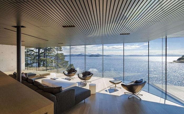 Гостиная с потрясающим видом на океан