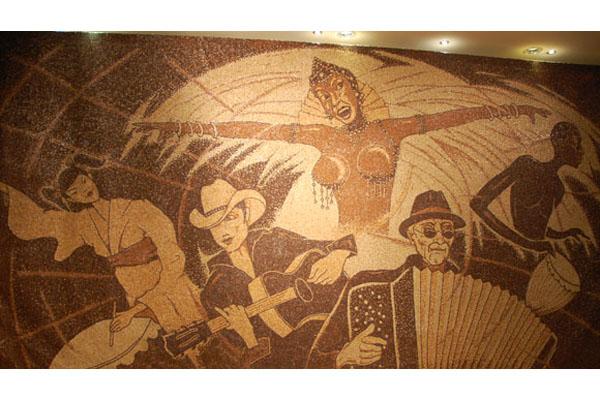 Ароматная мозаика из кофейных зёрен