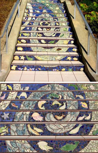 Самая длинная в мире лестница-мозаика