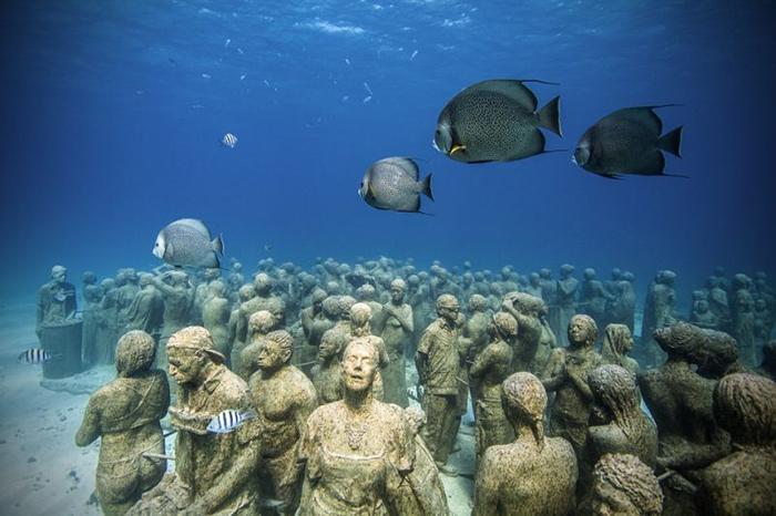 Джейсон Тэйлор, подводная скульптурная композиция «Молчаливая эволюция»