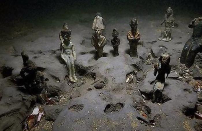 Статуи Гераклиона и Каноба, Абукирский залив, Египет
