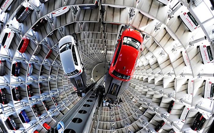 Лифт в Autostadt Silos