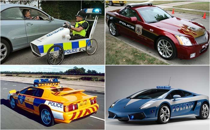 10 самых смешных и необычных полицейских машин