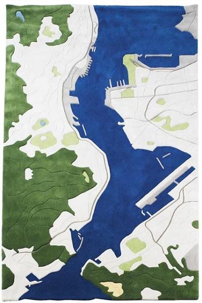 Ковер-карта от  Florian Pucher