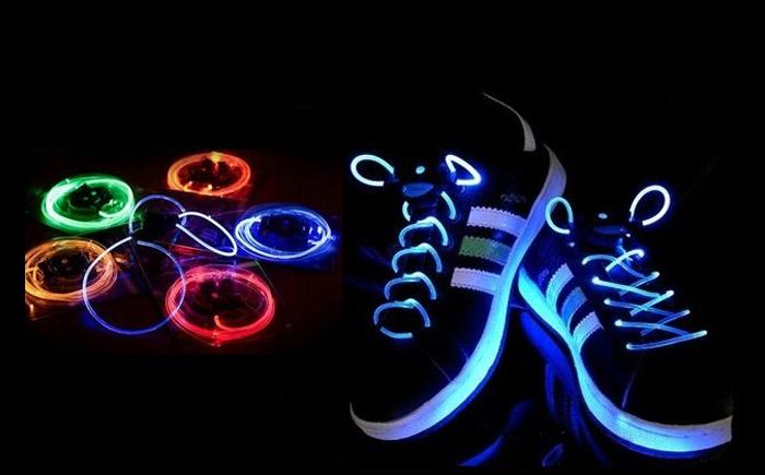 Шнурки со светодиодами