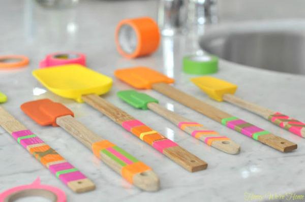 Цветные лопатки на кухне