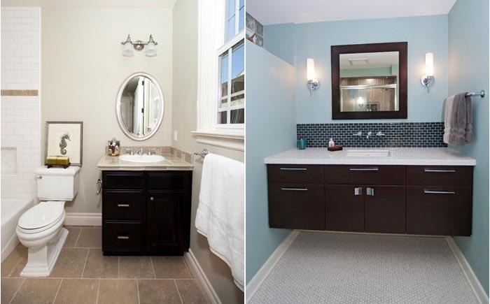 Дизайн ванной комнаты: как выбрать тумбочку под умывальник