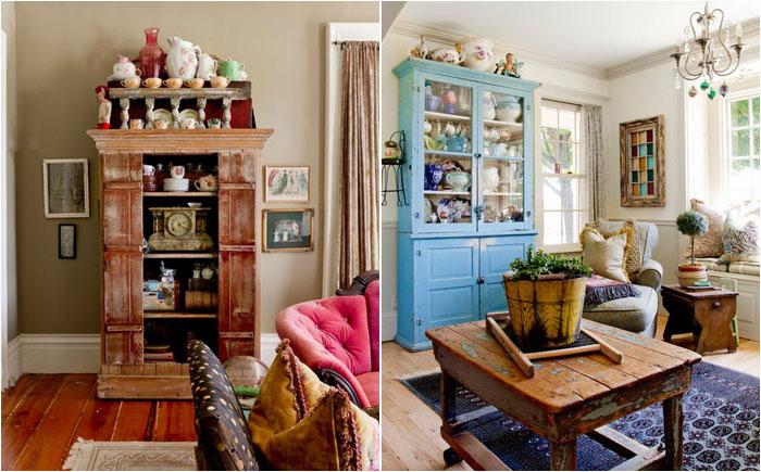Сам себе дизайнер: загородный дом в винтажном стиле, наполненный старыми и раритетными вещами