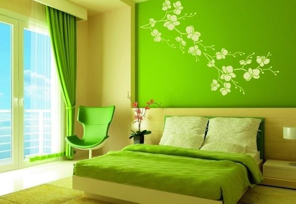 Покраска стен с дизайном