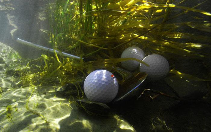 Собиратель мячиков для игры в гольф со дна водоемов