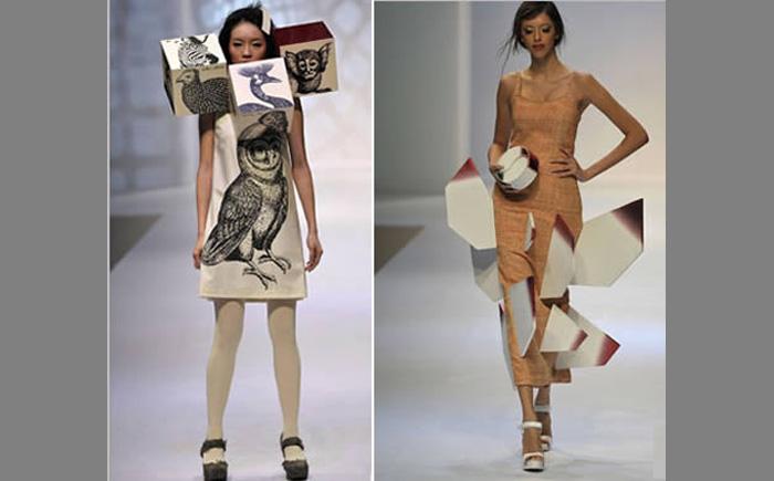 Платья из картона