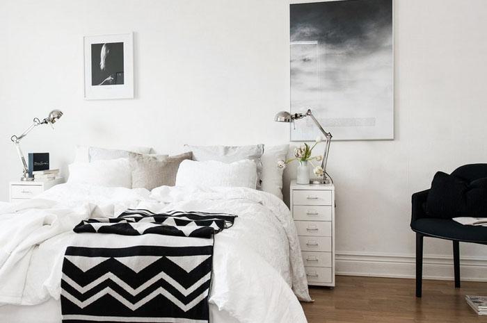 Интерьер спальни в скандинавском стиле от House of Beatniks