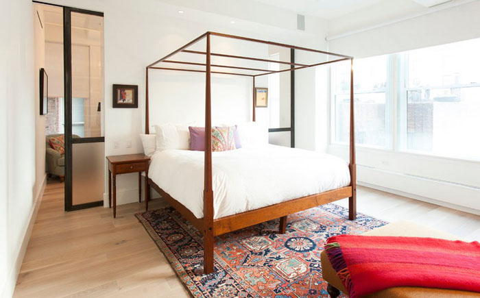 Интерьер спальни от The Hudson Company