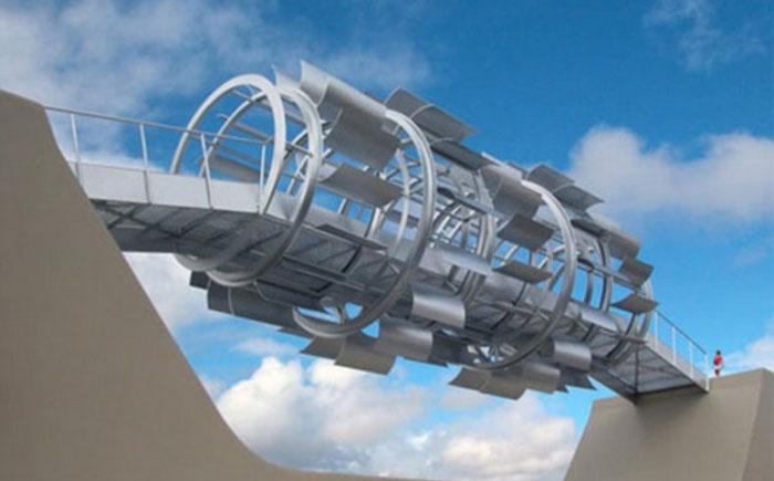 Ветрогенератор на мосту