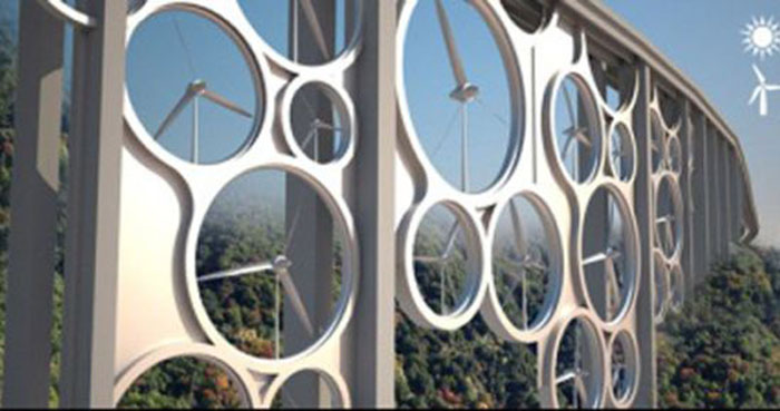 Концепт моста з турбін