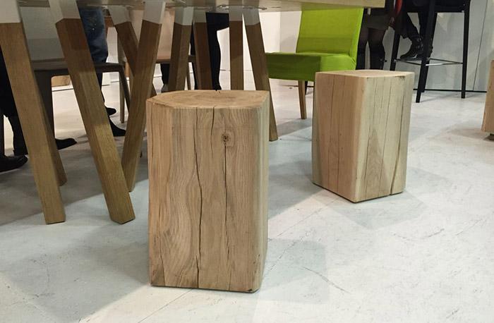 Прямоугольные стулья-пеньки