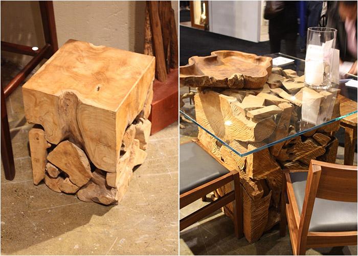 Деревянные столы из вторсырья