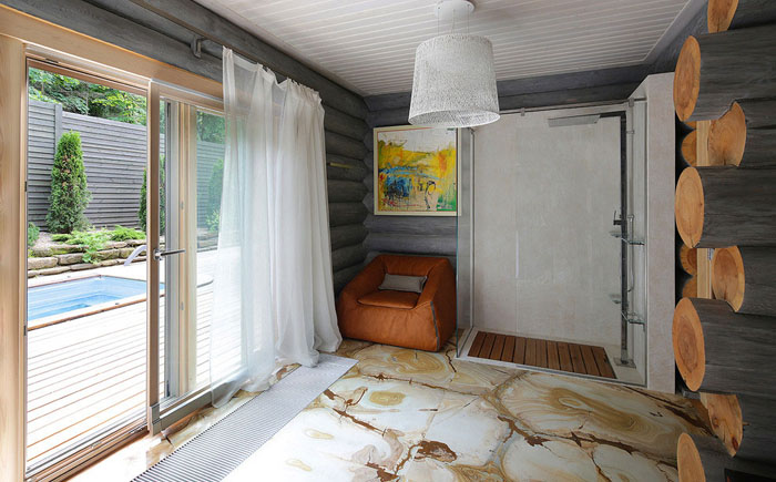 Ваная комната с панорамным окном