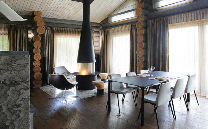 Зона столовой и гостиной